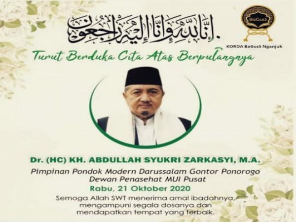 Gubernur Khofifah Sampaikan Duka Wafatnya Pengasuh Ponpes Gontor, K.H Abdulah Syukri Zarkasyi