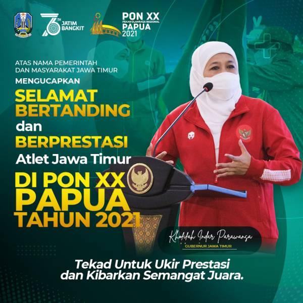Jelang Pembukaan PON XX Papua 2021, Kontingen Jatim Berhasil Koleksi 11 Emas, 15 Perak, dan 8 Perunggu