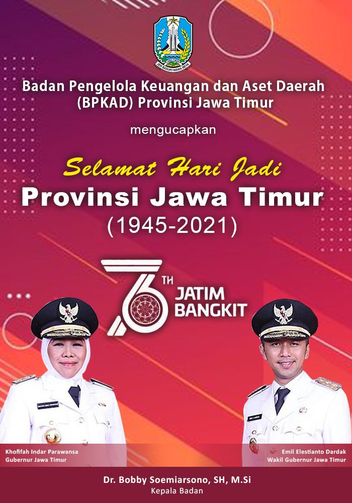Selamat Hari Jadi Provinsi Jawa Timur 1945-2021